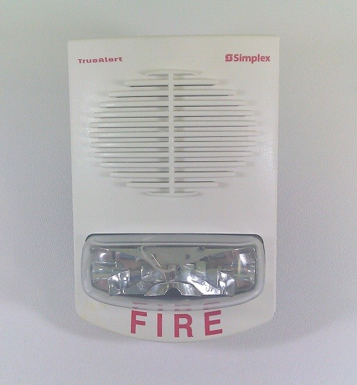 Simplex Multi-Candela Speaker Strobe Fire Alarm System 4906-9153