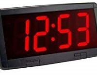 Simplex 6334-9140 4″ Red, LED Clock