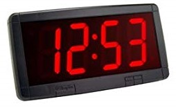 Simplex 6334-9140 4″ Red, LED Clock