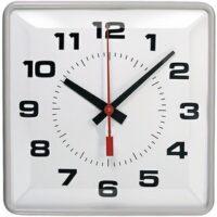Simplex 2310-9271 12″ Clock Sync Wired Square Semi Flush 3WBLK