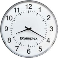 Simplex (6310-9075A) 12in Clock Impulse, Round Semi Flush / 24V60 3WBLK